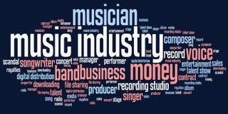 De muziekindustrie Stock Foto