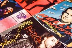De muziekindustrie terug in de jaren '90 45 t/min kiest verslagen uit royalty-vrije stock foto
