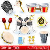 De muziekinzameling van trommels Royalty-vrije Stock Afbeeldingen