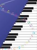 De Muziekkromme van de pianoladder Stock Afbeelding