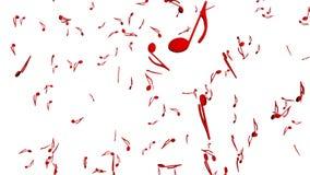 De muzieknota's die op witte achtergrond stromen en maken één grote muzieknoot vector illustratie