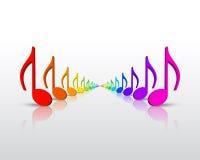De muzieknota's van de regenboog Royalty-vrije Stock Afbeelding