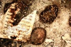 De muzieknota van de brandwond Royalty-vrije Stock Fotografie