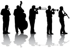 De muziekoverleg van de jazz Royalty-vrije Stock Fotografie
