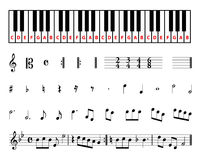 De muzieksymbolen van het blad Stock Foto's