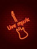 De muziekteken van het neon Royalty-vrije Stock Foto's
