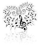 De muziekthema van de valentijnskaart Royalty-vrije Stock Fotografie