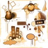 De muziektoestel van Grunge Stock Illustratie
