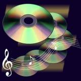 De muziekwereld van CD Stock Foto's