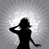 De muziekwijfje van Grunge Royalty-vrije Stock Afbeelding