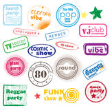 De muziekzegels van de club Royalty-vrije Stock Afbeelding