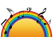 De muziekzon van de regenboog vector illustratie