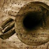 De muzikale achtergrond van de uitstekend-stijl Royalty-vrije Stock Foto
