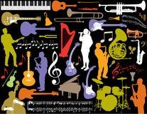 De muzikale Achtergrond van Elementen Stock Afbeelding