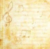 De muzikale achtergrond van Grunge Royalty-vrije Stock Afbeelding