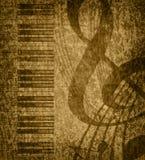 De muzikale achtergrond van Grunge Royalty-vrije Stock Foto