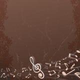 De Muzikale Achtergrond van Grunge. Het vector Beeld van de Achtergrond Royalty-vrije Stock Afbeeldingen