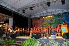 De Muzikale en Culturele Dans van Bidayuh Stock Foto's