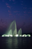 De muzikale fontein van het Meer van het westen Royalty-vrije Stock Afbeeldingen