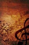 De muzikale houten achtergrond van Grunge Royalty-vrije Stock Foto