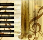 De muzikale vectorachtergrond van Grunge Stock Afbeelding