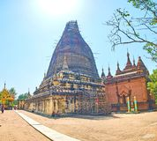 De Myazedi-Pagode in Bagan, Myanmar Royalty-vrije Stock Foto's