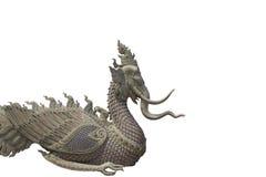 De mythische schepselen van de gipspleister op witte achtergrond Stock Afbeelding