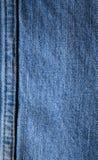De naadachtergrond van de jeans Royalty-vrije Stock Foto's