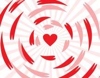 De naadloze abstracte achtergrond van de patroonliefde. Royalty-vrije Stock Afbeelding