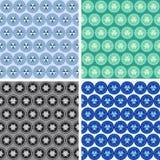 De naadloze abstracte geometrische reeks van het kunstpatroon Stock Fotografie