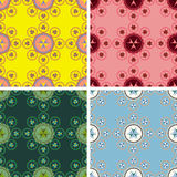 De naadloze abstracte geometrische reeks van het kunstpatroon Royalty-vrije Stock Afbeeldingen