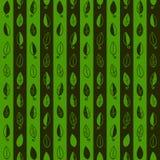 De naadloze achtergrond is met bladeren groene strepen Royalty-vrije Stock Fotografie