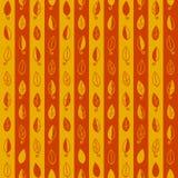 De naadloze achtergrond is met bladeren oranje strepen Royalty-vrije Stock Afbeeldingen