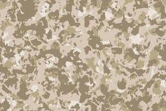 De de naadloze achtergrond of textuur van de woestijncamouflage vector illustratie