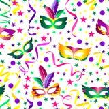 De naadloze achtergrond van Carnaval vector illustratie