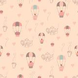 De naadloze achtergrond van Cupcake Royalty-vrije Illustratie