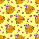 De naadloze achtergrond van de bloem, Royalty-vrije Stock Afbeelding