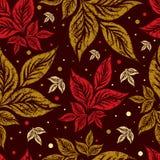De naadloze achtergrond van de herfstbladeren. Dankzegging Stock Foto's