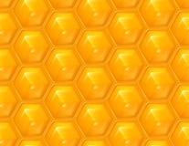 De naadloze achtergrond van de honingraat stock illustratie