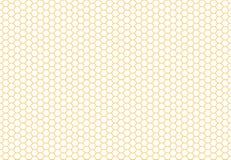 De naadloze achtergrond van de honingraat Eenvoudig naadloos patroon Stock Afbeeldingen
