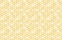De naadloze achtergrond van de honingraat Eenvoudig naadloos patroon van bees& x27; honingraat Illustratie Vector Geometrische af Stock Foto's