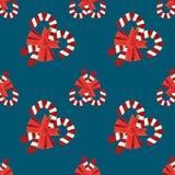 De naadloze achtergrond van de Kerstmis vectorillustratie Stock Foto