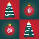De naadloze achtergrond van de Kerstmistegel Stock Foto's