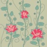 De naadloze achtergrond van de lotusbloembloem royalty-vrije stock foto's
