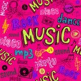 De naadloze achtergrond van de Muziek Royalty-vrije Stock Afbeelding