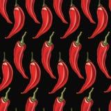 De naadloze achtergrond van de Spaanse peperpeper Stock Afbeeldingen