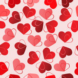 De naadloze achtergrond van de valentijnskaart Royalty-vrije Stock Foto