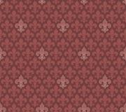De naadloze achtergrond van Fleur De Lis van de marsalakleur Stock Afbeelding