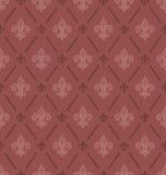 De naadloze achtergrond van Fleur De Lis van de marsalakleur Stock Fotografie
