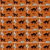 De naadloze achtergrond van Halloween Stock Fotografie